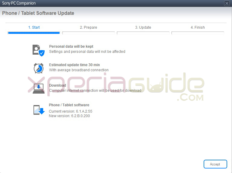 How to Update Xperia SL LT26ii to Android 4.1.2 Jelly Bean 6.2.B.0.200 firmware via PC Companion