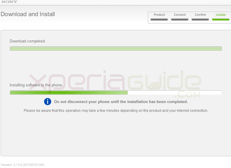 Install Update Xperia J ST26i Jelly Bean 11.2.A.0.31 firmware by Sony update Service