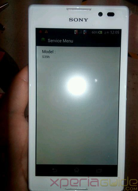 Sony Xperia S39h Model Photos Leaked