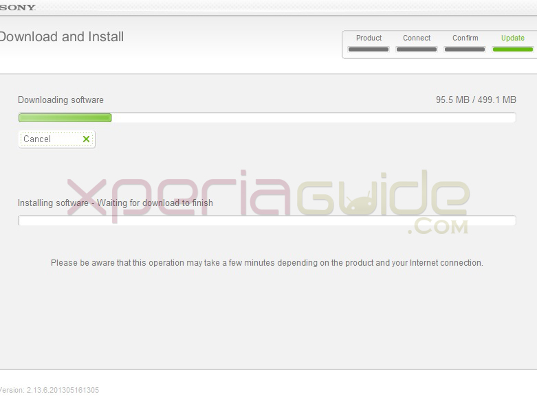 Update Xperia SL LT26ii to Android 4.1.2 Jelly Bean 6.2.B.0.200 firmware via Sony Update Service