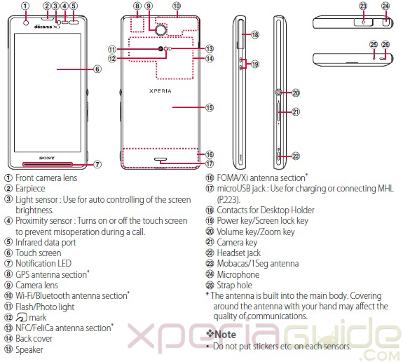 Xperia A SO-04E User Manual Guide