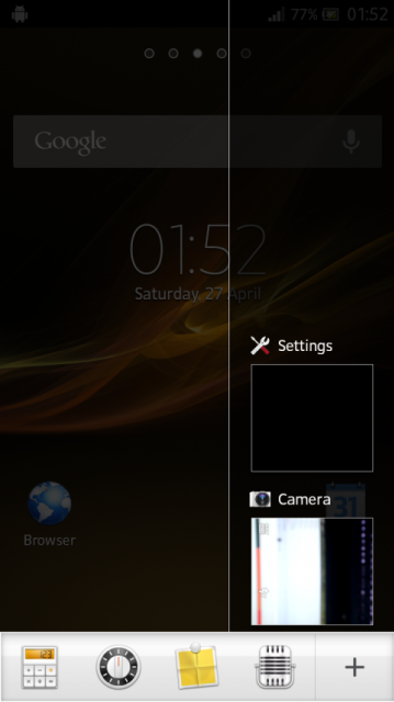 Xperia S android 4.1.2 JellyBean firmware 6.2.B.0.197 New notification window