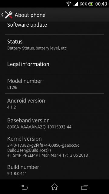 Xperia TX LT29i 9.1.B.0.411 firmware Detailed Review