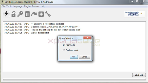 updating xperia firmware ftf via flashtool